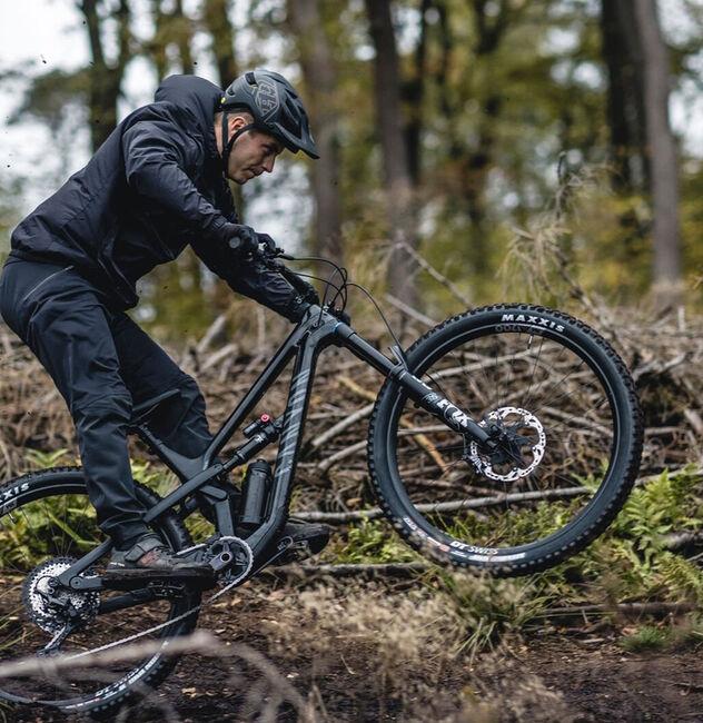 man riding with Canyon Spectral mountain bike